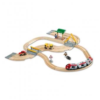 BRIO Straßen und Schienen Reisezug Set