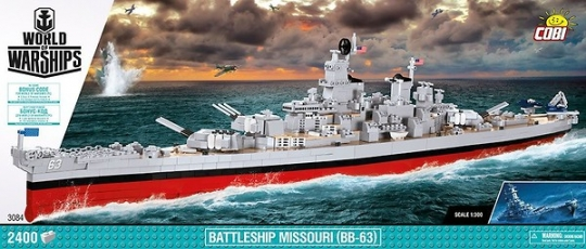 COBI 3084 - Battleship Iowa, Modellbausatz