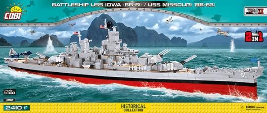 COBI 4812 - Battleship Iowa, Modellbausatz