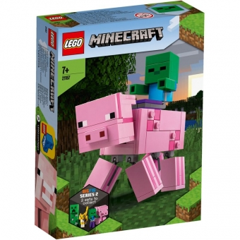 LEGO Minecraft 21157 - BigFig Schwein mit Zombiebaby
