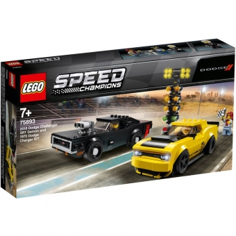 LEGO Speed Champions 75893 - 2018 Dodge Challenger SRT Demon und 1970 Dodge Charger R/T