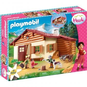 PLAYMOBIL® 70253 - Heidi und Großvater auf der Almhütte