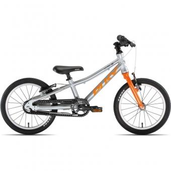 Puky 4407 LS-PRO 16-1 Alu, Kinderfahrrad, Farbe: silber/orange