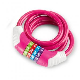 Puky 9431  Sicherheitskabelschloss  KS, Farbe: pink