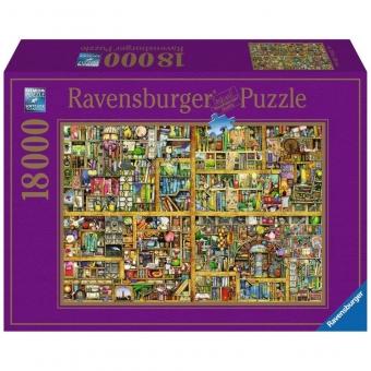 Ravensburger Puzzle 17825 - Magisches Bücherregal XXL, 18000 Teile