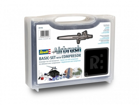 Revell 39195- Airbrush Basic Set mit Kompressor