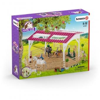 Schleich 42389 Reitschule mit Reiterinnen und Pferden