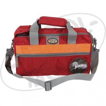 School Mood Sporttasche (klein) - Einhorn, rot crinkle