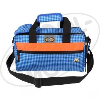 School Mood Sporttasche (klein) - Waschbär, vichy blau