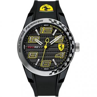 Scuderia Ferrari RED REV T 0830337 Herrenuhr, schwarz