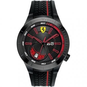 Scuderia Ferrari RED REV EVO 0830339 Herrenuhr, schwarz