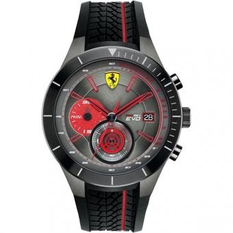 Scuderia Ferrari RED REV EVO 0830341 Herrenuhr, schwarz