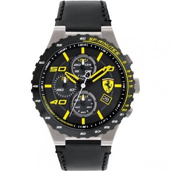 Scuderia Ferrari SPECIALE EVO 0830360 Herrenuhr, Edelstahl, schwarz