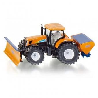 Siku 2940 - Traktor mit Räumschild und Streuer