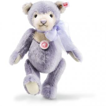 Steiff 006487 Laurin Teddybär, Mohair, 28 cm, flieder