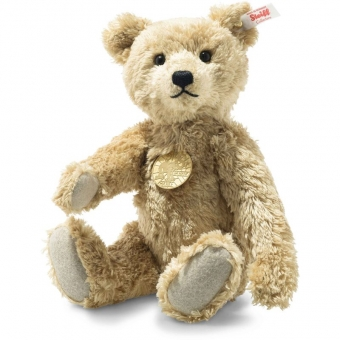 Steiff 007002 Basko Teddybär, Viskose/Baumwolle, 29 cm , goldbraun