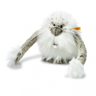 Steiff 015205 Nrommi Yeti, Plüsch, 20 cm, weiß/grau gespitzt