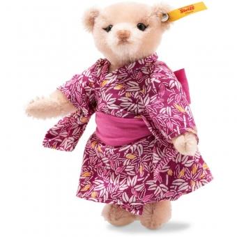 Steiff 026799 Great Escapes Tokyo Teddybär in Geschenkbox, Mohair, 15 cm, rosa