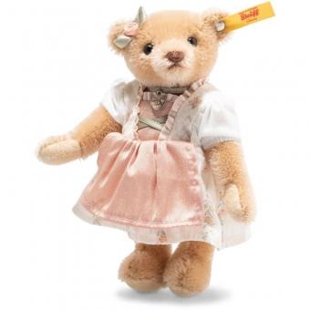 Steiff 026904 Great Escapes München Teddybär in Geschenkbox, Mohair, 15 cm, honig