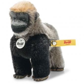 Steiff 033582 Boogie Gorilla in Box, Mohair, 11 cm, grau/schwarz