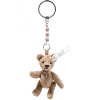 Steiff 034381 Anhänger Teddybär, Trevirasamt, 8 cm, braun