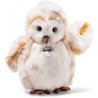 Steiff 045165 Owly Eule, Plüsch, 23 cm, creme gefleckt