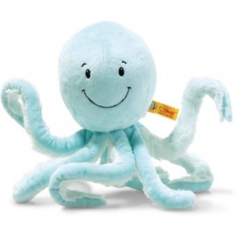 Steiff 063770 Soft Cuddly Friends Ockto Oktopus, Plüsch, 27 cm, türkis