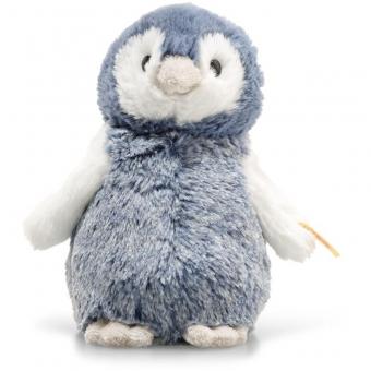 Steiff 063923 Soft Cuddly Friends Paule Pinguin, Plüsch, 14 cm, blau/weiß