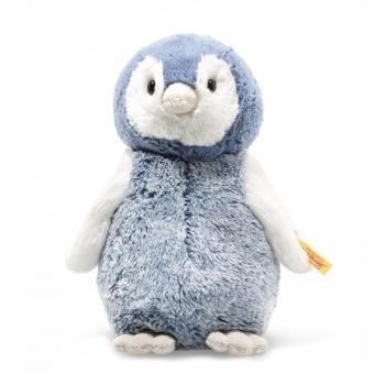 Steiff 063930 Soft Cuddly Friends Paule Pinguin, Plüsch, 22 cm, blau/weiß
