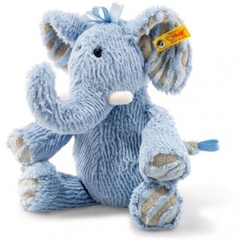 Steiff 064869 Soft Cuddly Friends Earz Elefant, Plüsch, 30 cm, blau