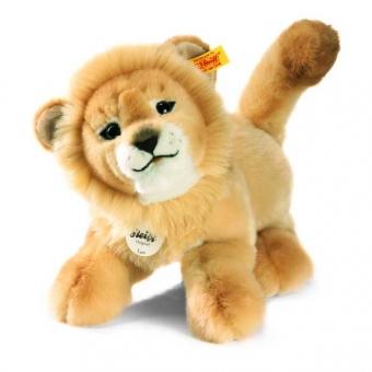 Steiff 065651 Leo Baby Schlenker Löwe, 28cm, Plüsch, blond, liegend