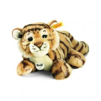 Steiff 066269 Radjah Baby Schlenker Tiger, 28cm, Plüsch, getigert, liegend