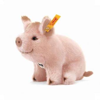 Steiff 071898 Sissi Schweinchen, 15 cm, Webpelz, rosa, sitzend