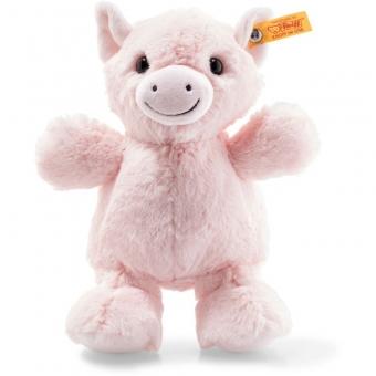 Steiff 072550 Soft Cuddly Friends Oink Schwein, Plüsch, 22 cm, rosa
