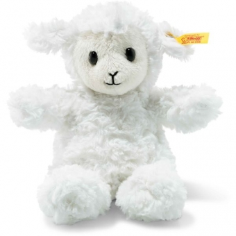 Steiff 073403 Soft Cuddly Friends Fuzzy Lamm, Plüsch, 18 cm, weiß