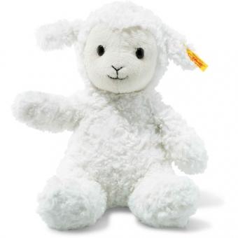 Steiff 073410 Soft Cuddly Friends Fuzzy Lamm, Plüsch, 28 cm, weiß