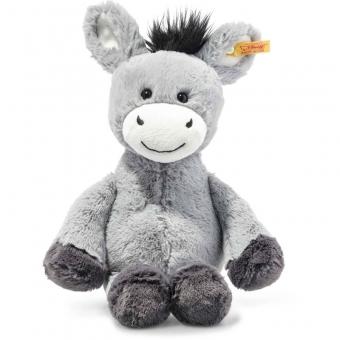 Steiff 073748 Dinkie Esel, Plüsch, 30 cm, graublau