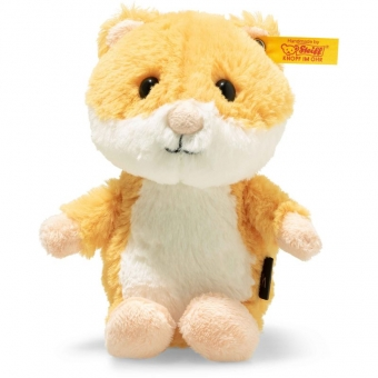 Steiff 073816 Soft Cuddly Friends Happy Hamster, Plüsch, 14 cm, goldgelb/weiß