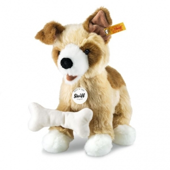 Steiff 076077 Rico Hund, Plüsch, 25 cm, blond/braun