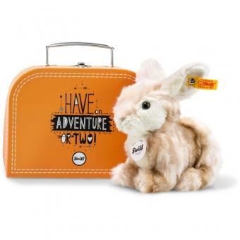 Steiff 080449 Melly Hase im Koffer, Plüsch, 18 cm, blond gestromelt