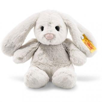 Steiff 080463 Soft Cuddly Friends Hoppie Hase, Plüsch, 18 cm, hellgrau