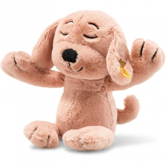 Steiff 080777 Soft Cuddly Friends Caramel Hund, Plüsch, 30 cm, pfirsich
