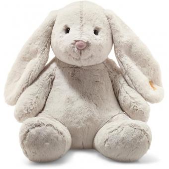 Steiff 080913 Soft Cuddly Friends Hoppie Hase, Plüsch, 48 cm, hellgrau