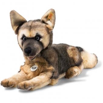 Steiff 083488 Mike Schäferhund, Webpelz, 37 cm, braun/blond