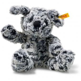 Steiff 083648 Soft Cuddly Friends Taffy Hund, Plüsch, 30 cm, grau meliert