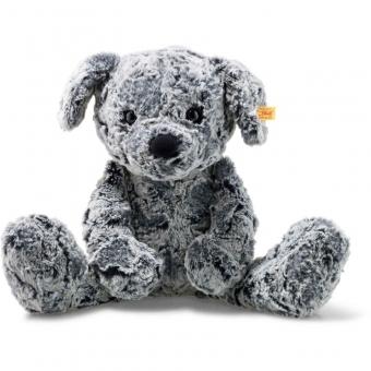 Steiff 083655 Soft Cuddly Friends Taffy Hund, Plüsch, 45 cm, grau meliert