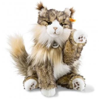 Steiff 099212 Pharao Katze, Plüsch, 42 cm, braun/creme gespitzt