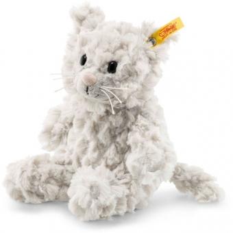 Steiff 099274 Soft Cuddly Friends Whiskers Katze, Plüsch, 18 cm, hellgrau