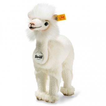 Steiff 104190 Lita Lama, Plüsch, 24 cm, creme