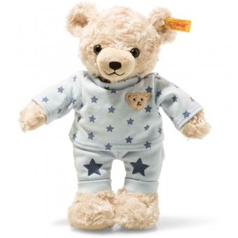 Steiff 109881 Teddy and Me Teddybär Junge mit Schlafanzug, Plüsch, 27 cm, hellblond/blau